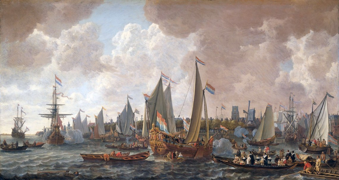 1920px-The_arrival_of_King_Charles_II_of_England_in_Rotterdam,_may_24_1660_(Lieve_Pietersz._Verschuier,_1665)